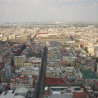 Mexikóváros, felülnézet