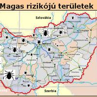 Kullancs veszély, főként  Dunántúlon