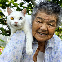 A nagymama és a felemás szemű cica