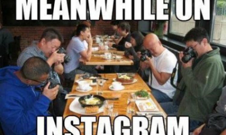 Nincs több ételfotózás Instagrammerek