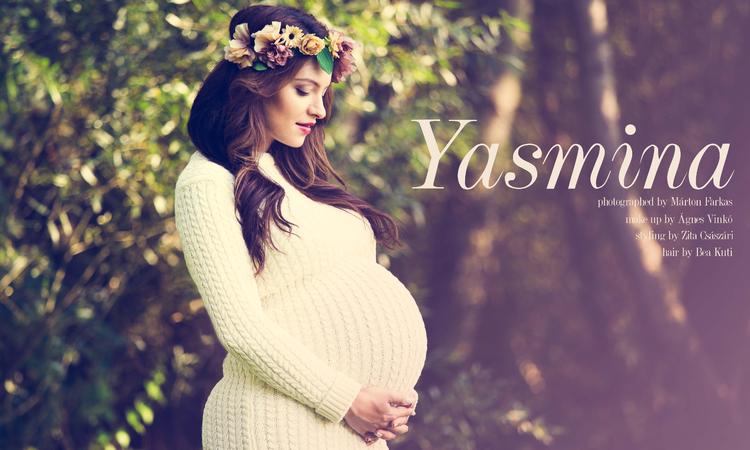 Fotózás az anyaság küszöbén - Yasmina
