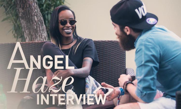 Angel Haze villáminterjú a Szigeten
