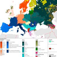 Európa nyelvi eloszlása