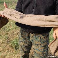 Neckerchief Cotton Knit Coyote Brown Scarf