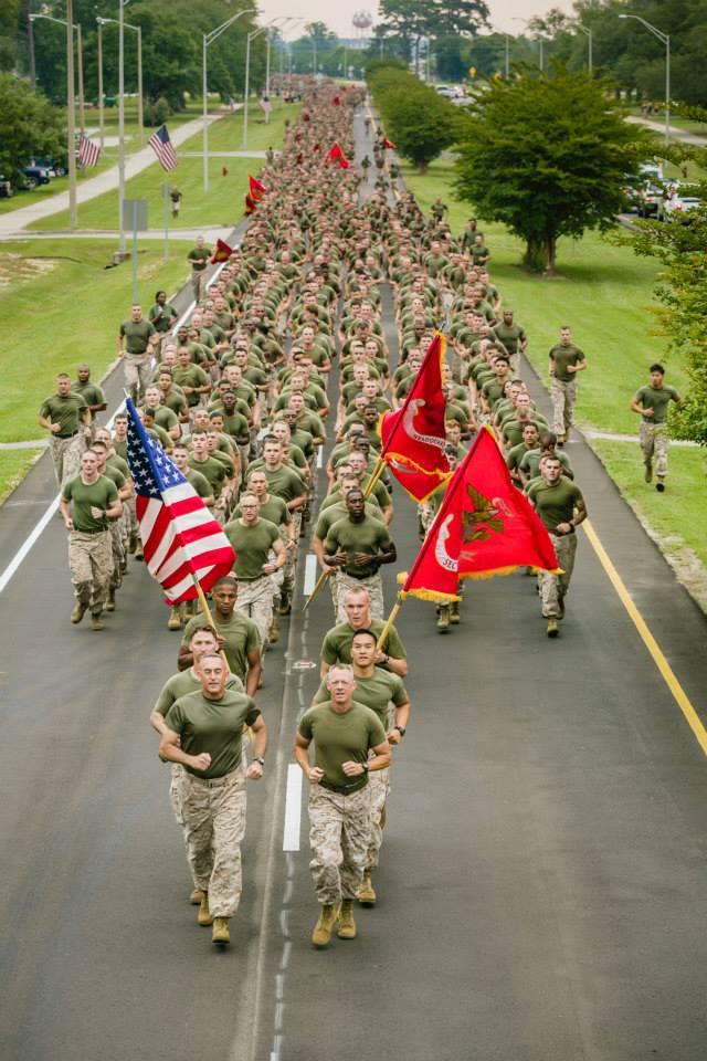 Brigadier Gen. James W. Lukeman, the commanding general of 2nd Marine Division, and Sgt. Maj. Bryan K. Zickefoose, the sergeant major of 2nd Marine Division,Base Camp Lejeune, N.C., May.jpg
