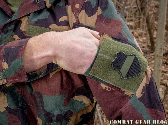 Fleece kabát kötött újjal zöld | Military Shop Szeged