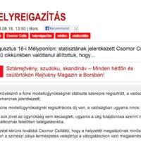 Helyreigazít a Bors: Csomor Csilla nem áll statisztának