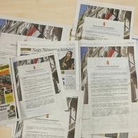 Már a Népszavában is egyoldalas hirdetésben sorosoznak