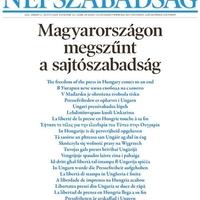 A Népszava pucér prolival, a Népszabadság hírmentes címlappal tiltakozik