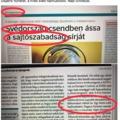 A Magyar Idők újságírónak nézte az egyik svéd napilapot