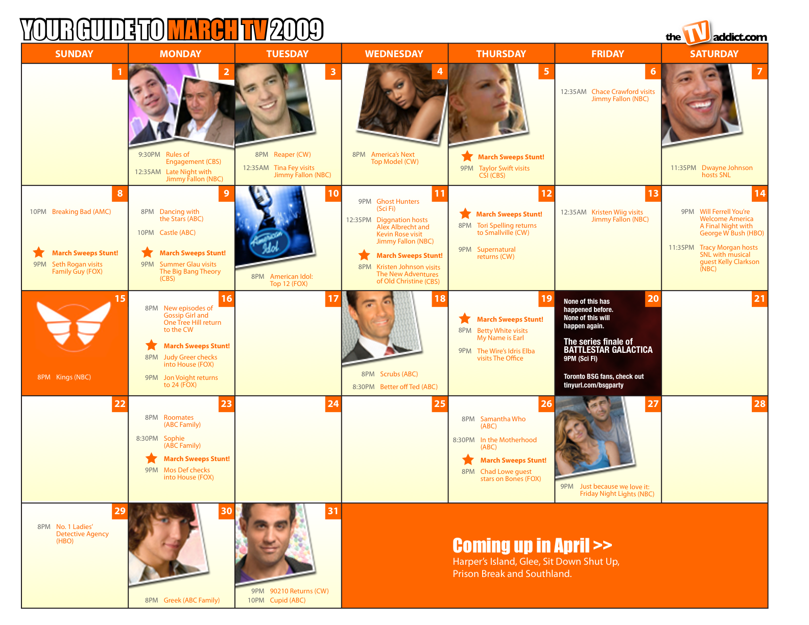 2009 március naptár A márciusi sweeps naptár   comment:com 2009 március naptár