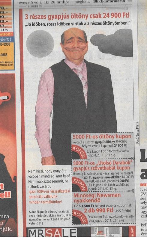 036f6723de Mr Sale, a legvidámabb hirdető - comment:com