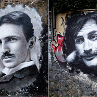 Street art - Graffiti portrék