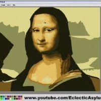 Mona Lisa festés paintben