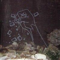 Street art ragasztószalagból