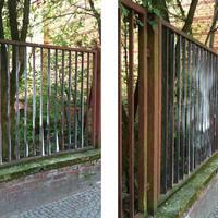 Street art - Szellem a kerítésben