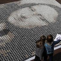Mona Lisa festmény 3604 adag kávéból