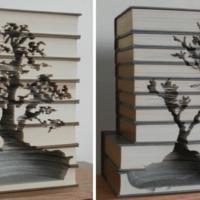 Újabb lenyűgöző könyvszobrok