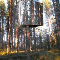 Láthatatlan ház a fák között