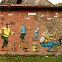 Ilyen a graffiti Ukrajnában