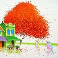 Phan Thu Trang színpompás festményei
