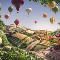 Étel művészet -  Elképesztő zöldség tájak