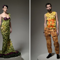 Kreatív ruhák ételből