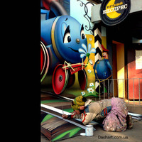 Kreatív utcai festmények - Mesevilág