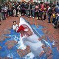 3D street art - Cápatámadás