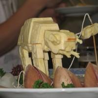 Étel művészet - Darth Vader a tányéron