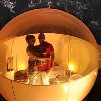 A sátorozás a múlté, éjszakázz buborékban!