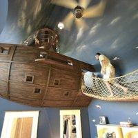 Minden gyerek álma: Kalózhajó szoba