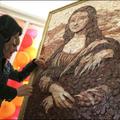 Étel művészet -  Mona Lisa szalámiból