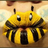 Kreatív női ajkak