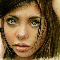 Gyönyörű ceruzarajzok - Színes portrék