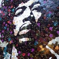 Jimi Hendrix gitár pengetőkből