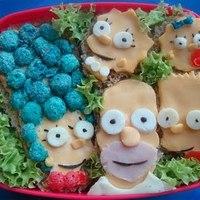 Étel művészet - Vicces alkotások