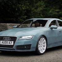 Hihetetlen - Audi A7 papírból