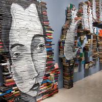 Régi könyvek, mint festővászon