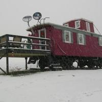 Családi ház mozdonyból