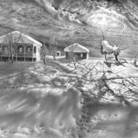 Lenyűgöző ceruzarajz - Téli tájképek