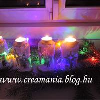 Karácsonyi mécsesdísz az ablak elé