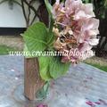 Mohás fatörzs váza