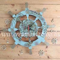 Hajókormány óra