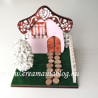 Kis kertes házikó