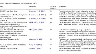Hosszútávú etetési vizsgálatok GM-növényekkel
