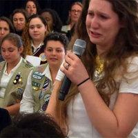 Egy horvát lány sírva sokkolta Hillary Clintont: