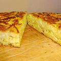 Sült sajtos tészta