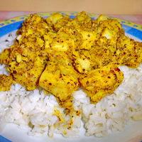 Tőkehalfilé indiai fűszeres mártásban