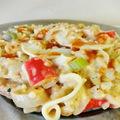 Tejszínes surimi levendulás chili szósszal